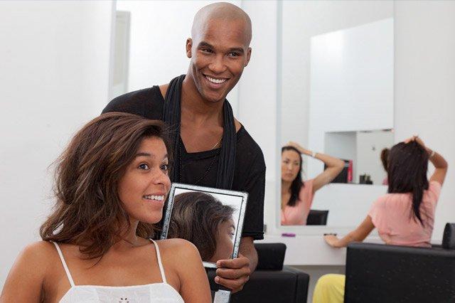 salon representing small business